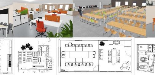 Plans d'aménagement mobilier